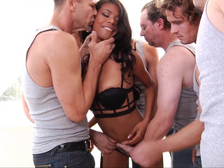 Ebony hoe's first blow-bang