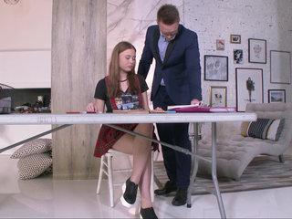 Lusty coed seduced by her tutor