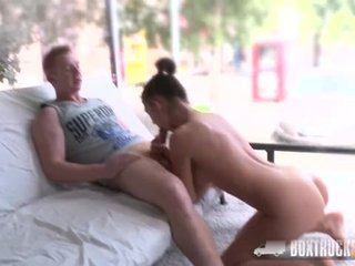 Hot Teen Bella Aviva has Hardcore Sex in Public