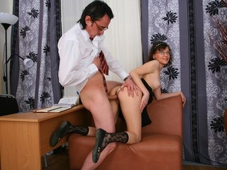 Young coed seduced her teacher.